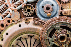 Old worn out rusty details of industrial machine Royalty Free Stock Image