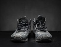Old worn out shoes Stock Image