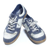 Old worn out sneakers Stock Photo