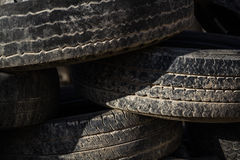 Old Worn Out Tires Royalty Free Stock Photography
