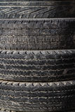 Old Worn Out Tires Stock Photography