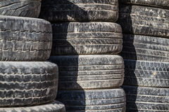 Old Worn Out Tires Royalty Free Stock Image