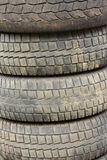 Old worn out used tires Stock Photos