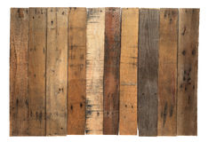 Old worn out wooden boards. Isolated on white Stock Photo