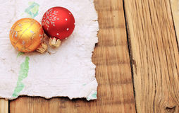 Old worn paper. Christmas decoration. Old worn paper royalty free stock images