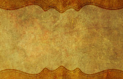 Old, Worn Paper Grunge Background with Border Royalty Free Stock Image