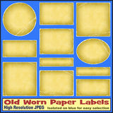 Old Worn Paper Labels Stock Photo