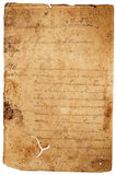 Old worn paper letter Royalty Free Stock Photography
