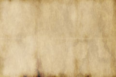 Old worn parchment paper Royalty Free Stock Photography