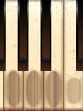Old Worn Piano Keys Stock Photos