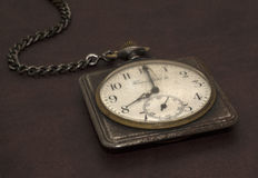 Old worn pocket watch Stock Images