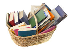 Old worn ragged books stock images