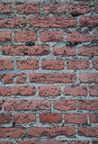 Old Worn Red Brick Wall Details Background Texture. Old Worn Contrast Red Brick Wall Details Background Texture Royalty Free Stock Images