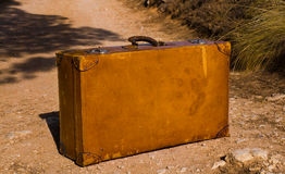 Old and worn retro suitcase Royalty Free Stock Images