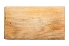 Old worn and scratched wooden cutting board Royalty Free Stock Photos