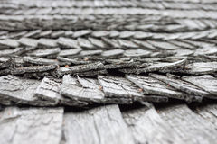 Old worn shingle roof pattern Royalty Free Stock Images