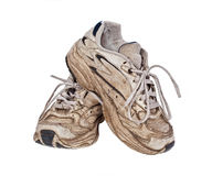 Old, worn sneakers Stock Image