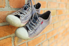 Old worn sneakers Stock Photography