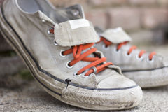 Old Worn Sneakers Royalty Free Stock Photo