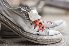 Old Worn Sneakers Royalty Free Stock Images