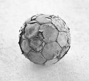 Old worn soccer ball Stock Photos