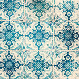 Old worn texture. Traditional ornate portuguese decorative tiles. Azulejos. Vintage pattern. Wall Azulejo ornaments royalty free stock photos