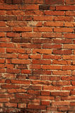 Old worn vertical brick wall Royalty Free Stock Photography