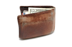 Old Worn Wallet Stock Images