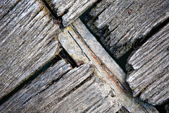 Old worn wooden deck Stock Photo