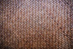 Old woven bamboo mat background  texture pattern Royalty Free Stock Photo