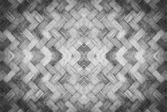 Old woven bamboo pattern Stock Photo