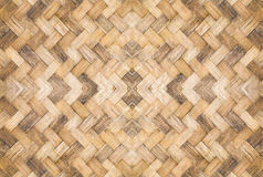 Old woven bamboo pattern Royalty Free Stock Image