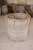 Old woven basket Stock Photography