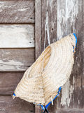 Old woven hat Royalty Free Stock Images