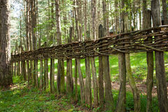 Old woven wooden fence Royalty Free Stock Photography