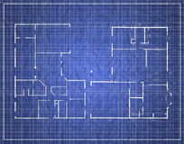 Old wrapped blueprint. An Old wrapped blueprint of a building Stock Images
