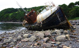 Free Old Wreckage Wooden Boat Stock Image - 8289001