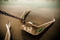 Old wrecked boat Stock Images