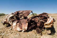 Old wrecked car in Outback Australia. Old rusty wrecked car in Outback Australia Royalty Free Stock Photos