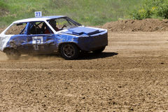 Old wrecked cars stock race Stock Photos