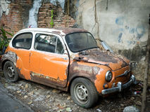 Old wrecked vintage car Royalty Free Stock Photography