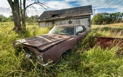 Old wrecking car Stock Image