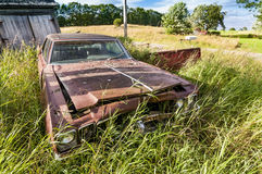 Old wrecking car Royalty Free Stock Images