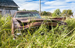 Old wrecking car Stock Images
