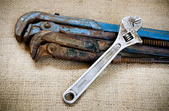 Old wrench Stock Image
