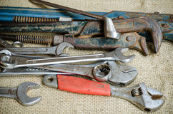 Old wrench Royalty Free Stock Photos