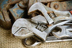 Old wrench Royalty Free Stock Images