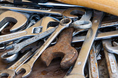 Old wrenches Royalty Free Stock Photography