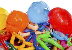Old wrinkled balloons after the party Royalty Free Stock Photos