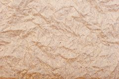 Old wrinkled brown paper close-up Royalty Free Stock Photos